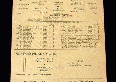 Walsall v Leicester 10.05.1941