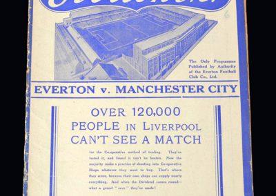 Everton v Man City 08.09.1937