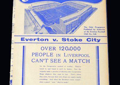 Everton v Stoke 27.11.1937
