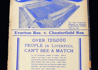 Everton Reserves v Chesterfield Reserves 08.01.1938