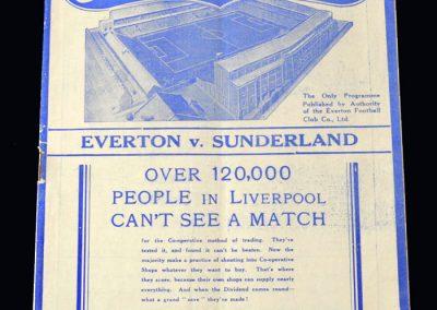 Everton v Sunderland 22.01.1938 - FA Cup 4th Round