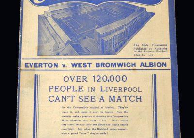 Everton v West Brom 02.04.1938