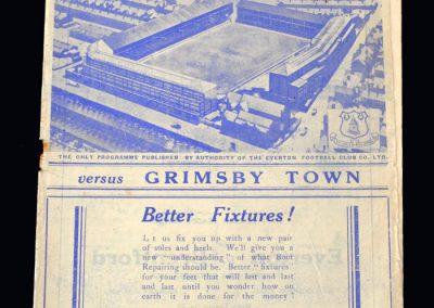 Everton v Grimsby 31.08.1938