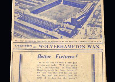 Everton v Wolves 08.10.1938