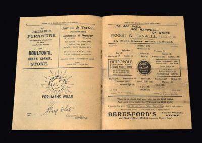 Everton v Stoke 26.11.1938