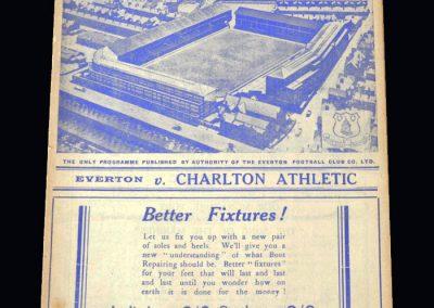 Everton v Charlton 17.12.1938