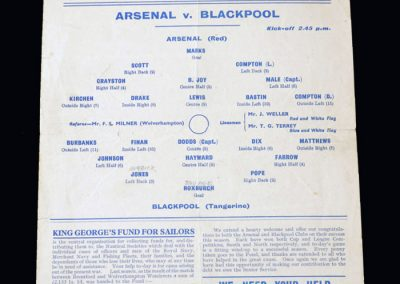 Arsenal v Blackpool 15.05.1943 - War Cup Winners South v North