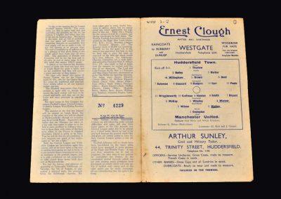 Man Utd v Huddersfield 25.08.1945
