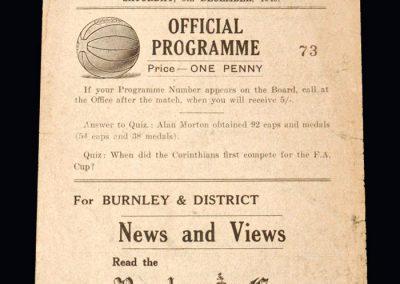 Man Utd v Burnley 08.12.1945