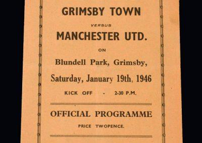 Man Utd v Grimsby 19.01.1946