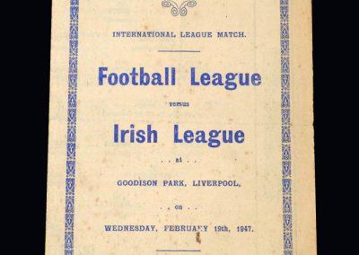 Football League v Northern Irish League 19.02.1947