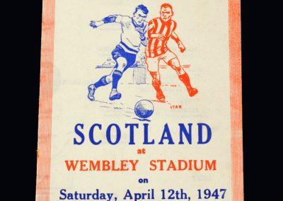 England v Scotland 12.04.1947 (pirate)