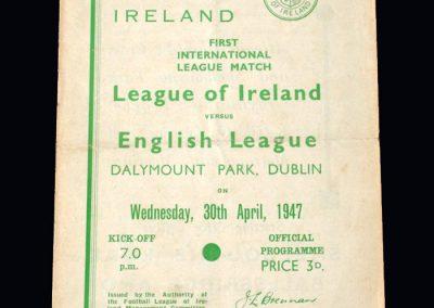 Irish League v English League 30.04.1947