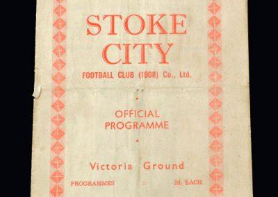 Stoke v Charlton 31.08.1946