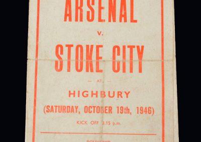 Stoke v Arsenal 19.10.1946 (pirate)