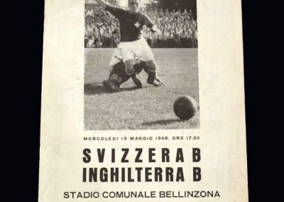 Switzerland B v England B 19.05.1948