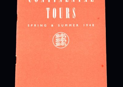FA 1948 Continental Tours Report