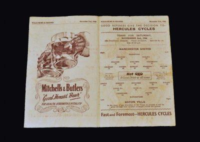 Man Utd v Aston Villa 02.11.1946