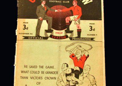 Man Utd v Derby 09.11.1946