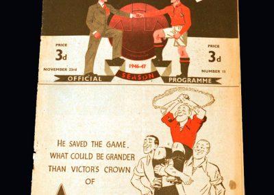 Man Utd v Huddersfield 23.11.1946