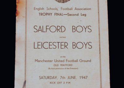 Salford Boys v Leicester Boys 07.06.1947