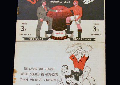 Man Utd v Liverpool 27.08.1947
