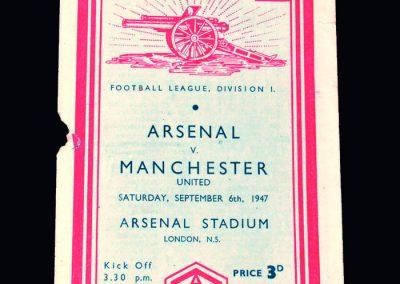 Man Utd v Arsenal 06.09.1947