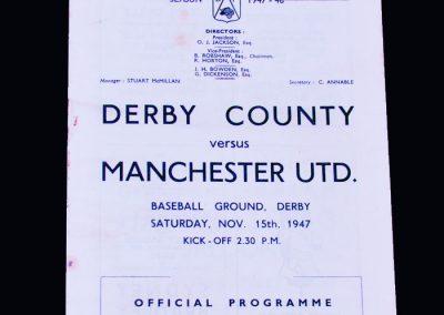 Man Utd v Derby 15.11.1947