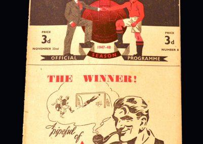 Man Utd v Everton 22.11.1947