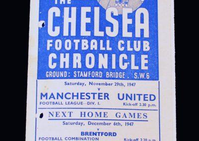 Man Utd v Chelsea 29.11.1947