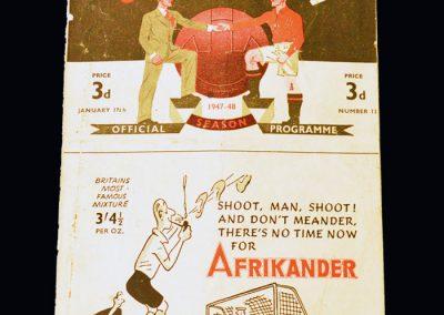 Man Utd v Arsenal 17.01.1948
