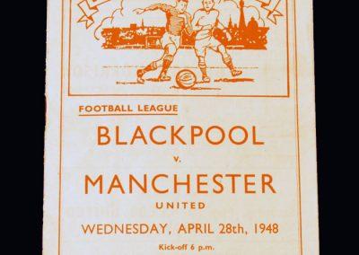Man Utd v Blackpool 28.04.1948