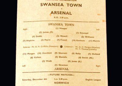 Swansea v Arsenal 29.11.1947