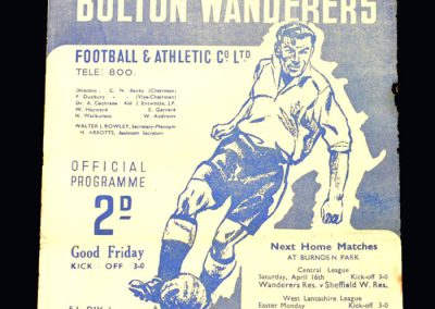 Man Utd v Bolton 15.04.1949