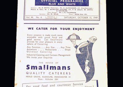 Man City v Stoke 15.10.1949