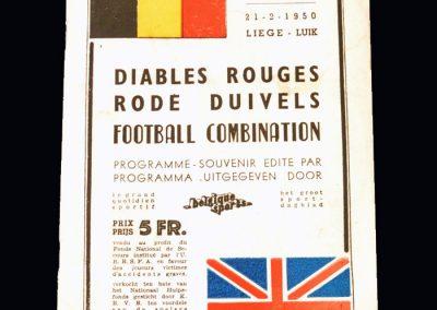 Red Devils Belgium v London Combination 21.02.1950