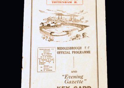 Middlesbrough v Spurs (Champions) 21.04.1951