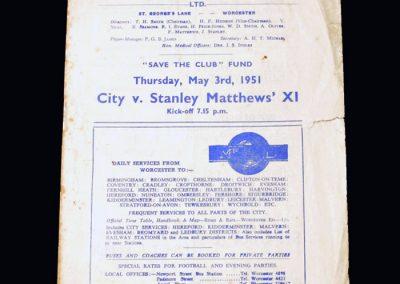 Worcester v Stanley Matthews 11 03.05.1951