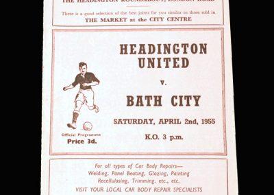 Headington v Bath City 02.04.1955