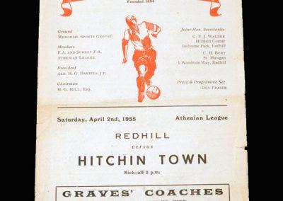 Redhill v Hitchin 02.04.1955