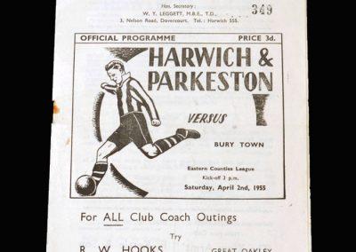 Harwich v Bury Town 02.04.1955