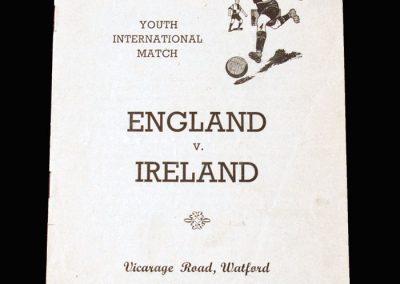 England Youth v Ireland Youth 14.05.1955