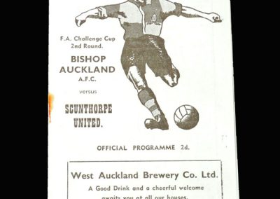 Bishop Auckland v Scunthorpe 10.12.1955 - FA Cup 2nd Round