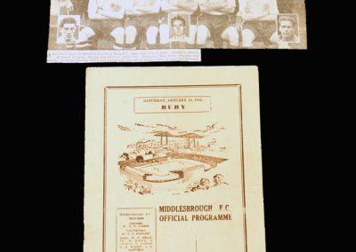 Middlesbrough v Bury 14.01.1956