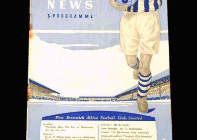 West Brom v Leeds 12.03.1958