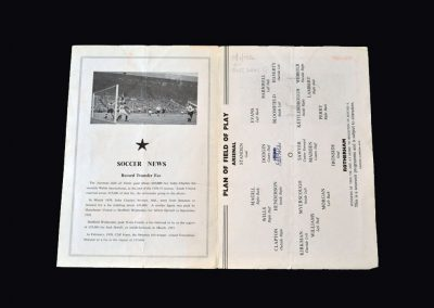 Arsenal v Rotherham 18.01.1960 - FA Cup 3rd Round 2nd Replay 2-0 (pirate)