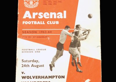 Arsenal v Wolves 24.08.1963