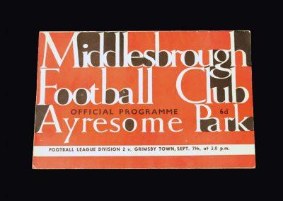 Middlesbrough v Grimsby 07.09.1963