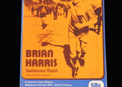 Newport v Everton 10.04.1974 (Brian Harris testimonial)