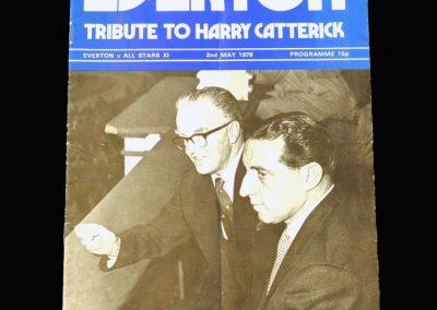 Everton v All Stars 11 02.05.1978 (Harry Catterick testimonial. Tony back at Goodison)